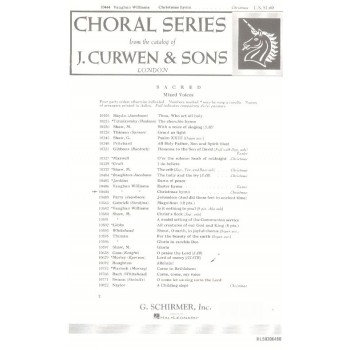 buy williams v christmas hymns satb online in india at best prices furtados - Best Christmas Hymns