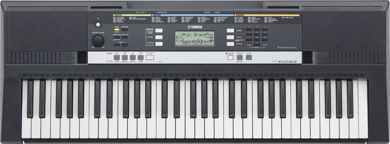 Buy yamaha electronic keyboard psr e 243 online in india for Yamaha professional keyboard price
